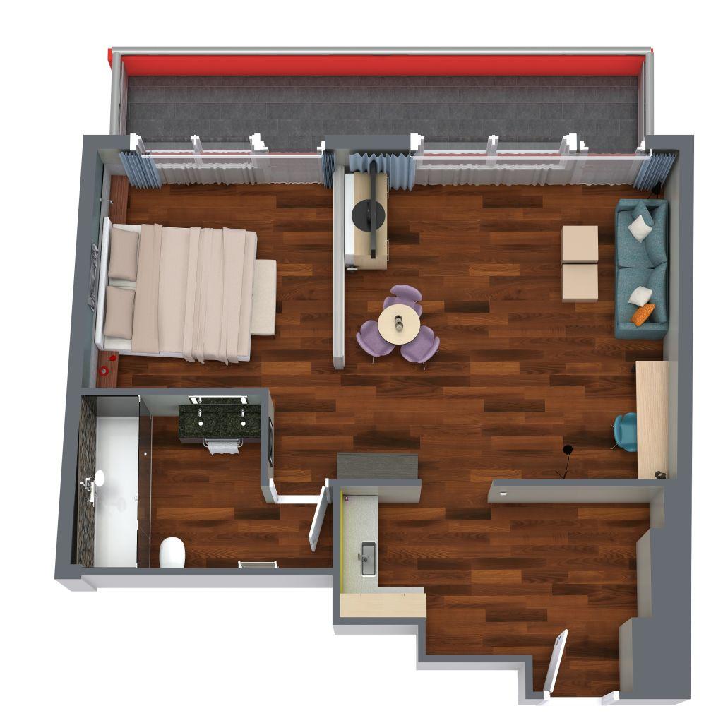 Hotel Lyskirchen Köln Apartment 3D Ansicht