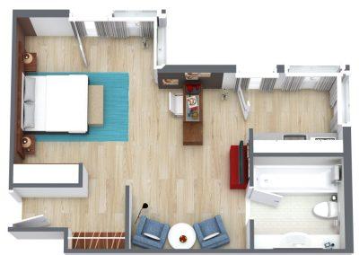 Mercure Köln Belfortstraße Apartment 3D Ansicht